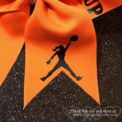 Play like a girl bow, Basketball Bow, Try to Keep Up, Jumpgirl bow - Bling Bow Love - 3