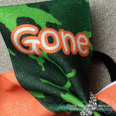 Gone Stuntin Bow, Cheer Bow, Camo Bow - Bling Bow Love - 2
