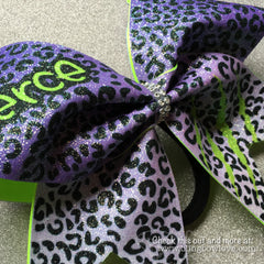 Fierce Bow - Purple and Green - Bling Bow Love - 3