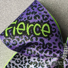 Fierce Bow - Purple and Green - Bling Bow Love - 2