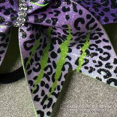 Fierce Bow - Purple and Green - Bling Bow Love - 4