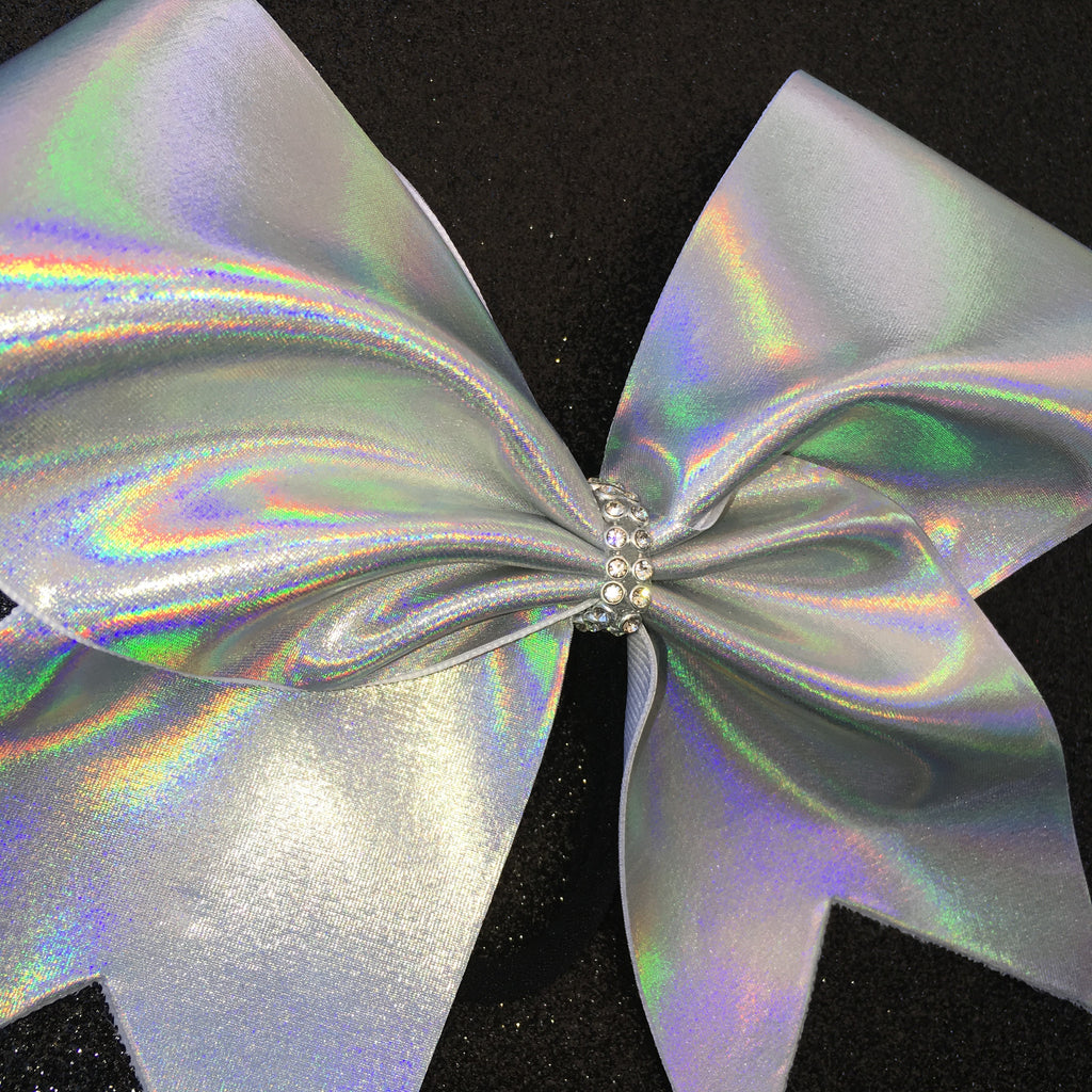 Hologram Silvers: Holographic Silver Cheer Bow