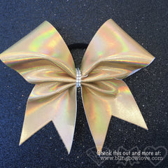 Holographic Gold Cheer Bow - Bling Bow Love - 2