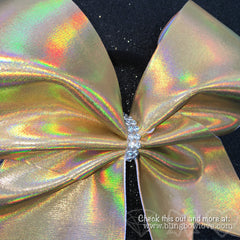 Holographic Gold Cheer Bow - Bling Bow Love - 1