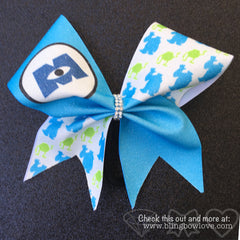 Monster BFF Cheer Bows Set // Monster Bows // Green Cheer Bow // Blue Cheer Bow - Bling Bow Love - 2
