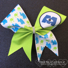 Monster BFF Cheer Bows Set // Monster Bows // Green Cheer Bow // Blue Cheer Bow - Bling Bow Love - 3