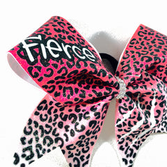 Red Fierce Cheetah Bow - Bling Bow Love - 4