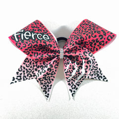 Red Fierce Cheetah Bow - Bling Bow Love - 1