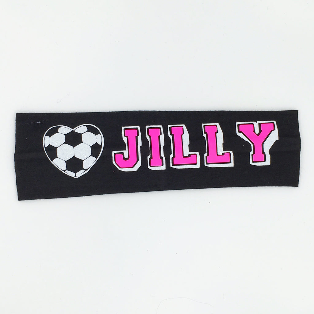 Soccer Headband - Glow in the dark - Bling Bow Love - 1