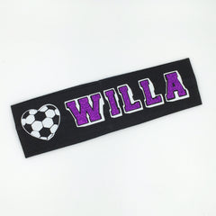 Soccer Headband - Glow in the dark - Bling Bow Love - 9