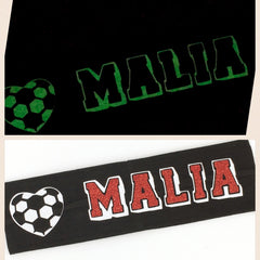 Soccer Headband - Glow in the dark - Bling Bow Love - 4