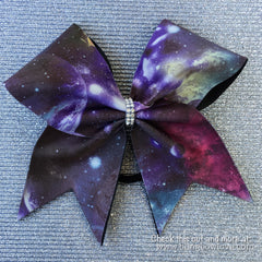 Galaxy Print Cheer Bow - Bling Bow Love - 5