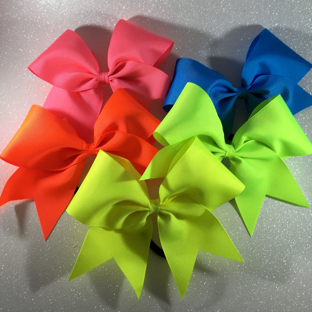 Neon Bow Set - Bling Bow Love