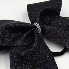 Black Glitter Cheer Bow - Bling Bow Love - 2