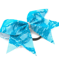 Blue Lace Bow - Bling Bow Love - 3