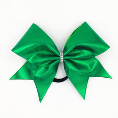 Green Metallic Cheer Bow - Bling Bow Love - 3