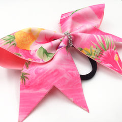 Hawaiian Bow, Pink Cheer Bow - Bling Bow Love - 2