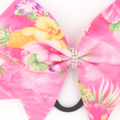 Hawaiian Bow, Pink Cheer Bow - Bling Bow Love - 3