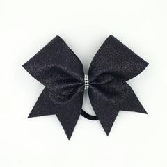 Black Glitter Cheer Bow - Bling Bow Love - 1