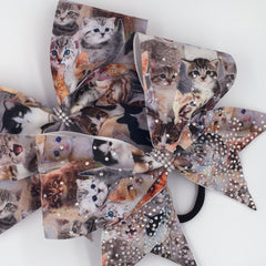 Meow Bow, Cheer Bow, Cat Bow, Kitty Bow - Bling Bow Love - 3