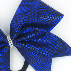 Blue Animal Print Cheer Bow - Bling Bow Love - 3