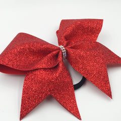 Red Glitter Cheer Bow - Bling Bow Love - 2