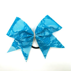 Blue Lace Bow - Bling Bow Love - 4