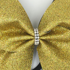 Gold Holographic Glitter Cheer Bow - Bling Bow Love - 2