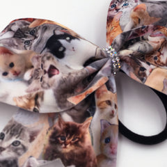 Meow Bow, Cheer Bow, Cat Bow, Kitty Bow - Bling Bow Love - 2