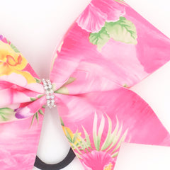 Hawaiian Bow, Pink Cheer Bow - Bling Bow Love - 4