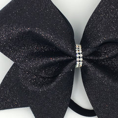 Black Glitter Cheer Bow - Bling Bow Love - 3