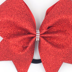 Red Glitter Cheer Bow - Bling Bow Love - 3