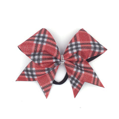 Scotty Bow, Red Plaid bow, Cheer Bow - Bling Bow Love - 2