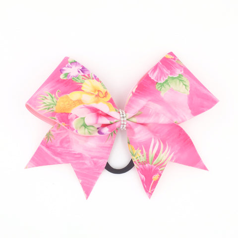Hawaiian Bow, Pink Cheer Bow - Bling Bow Love - 1