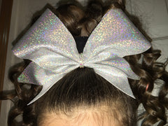 Mini Dot Holographic Cheer Bow - Bling Bow Love - 3