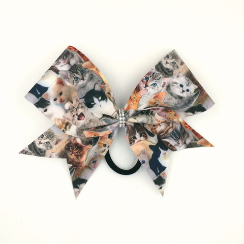 Meow Bow, Cheer Bow, Cat Bow, Kitty Bow - Bling Bow Love - 1