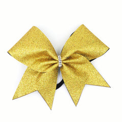 Gold Holographic Glitter Cheer Bow - Bling Bow Love - 4