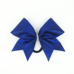 Blue Animal Print Cheer Bow - Bling Bow Love - 4