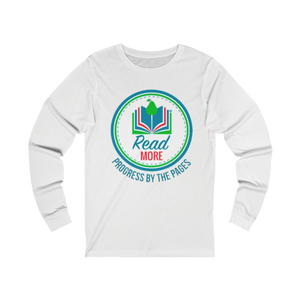 "Open image in slideshow, ""Progress By The Pages"" Long Sleeve Tees"