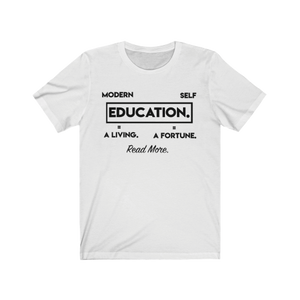 "Open image in slideshow, ""Modern Education Vs. Self-Education"" Tees"
