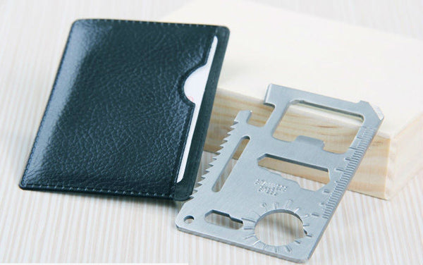 Stainless Steel Pocket Credit Card Multi-Tool 11 in 1 EDC