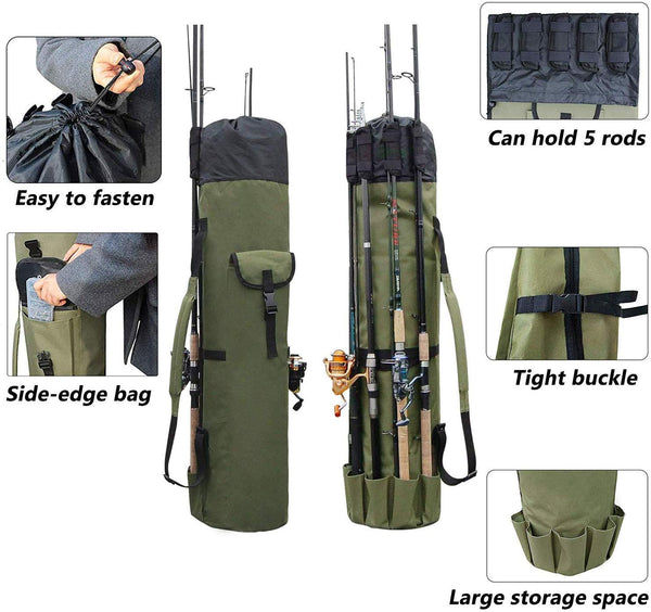 Angler's Friend Large Capacity Fishing Rod and Tackle Backpack- FREE SHIPPING USA