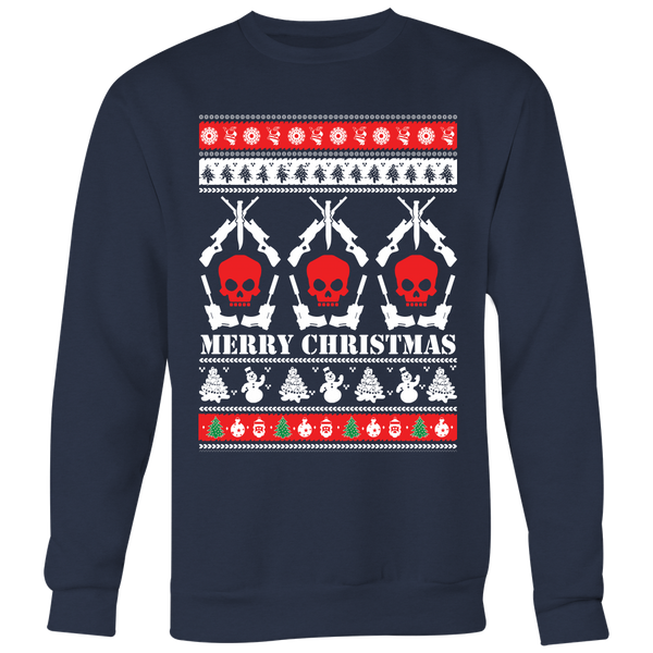 Guns and Skulls Ugly Christmas Sweater Xmas Shirt