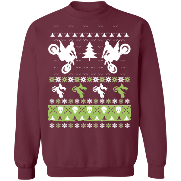 MX Motorcycle Motocross Ugly Christmas Sweater