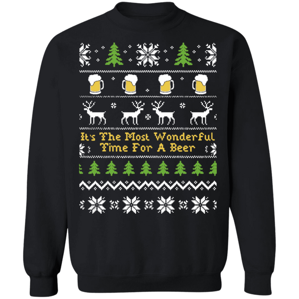 The Most wonderful time for a beer ugly christmas sweater