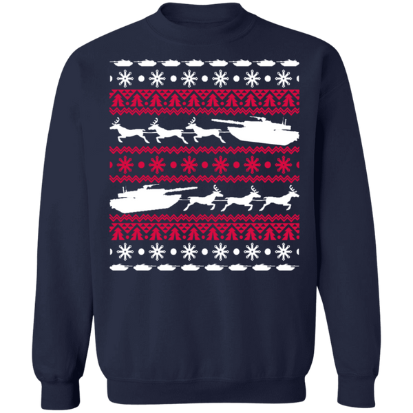 Armed Forces Military Vehicle Tank Ugly christmas sweater