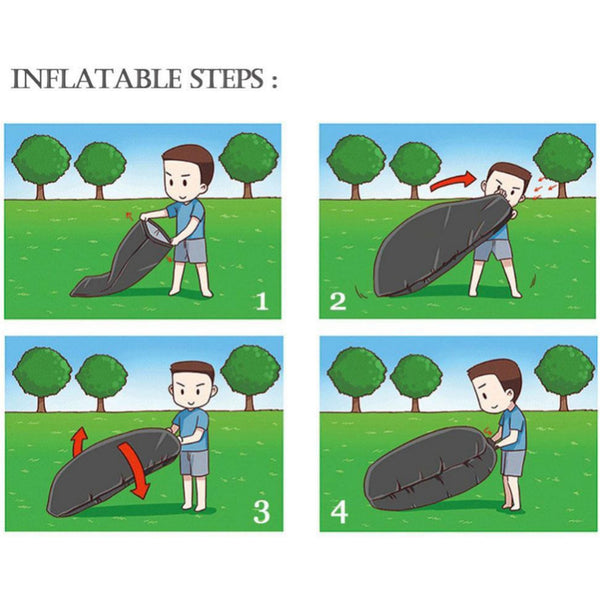 how to inflate a portable air couch