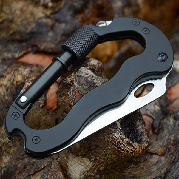 edc carabiner multitool knife screwdriver