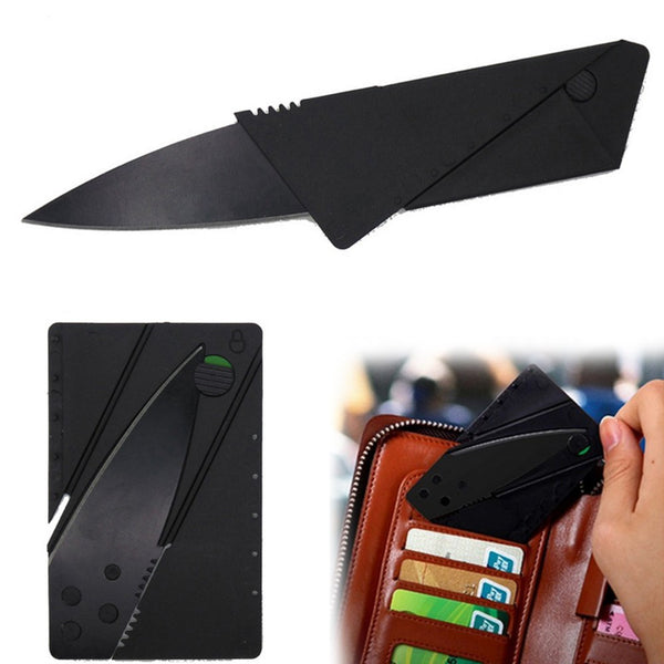 Folding Black Tactical Card Knife easy everyday carry