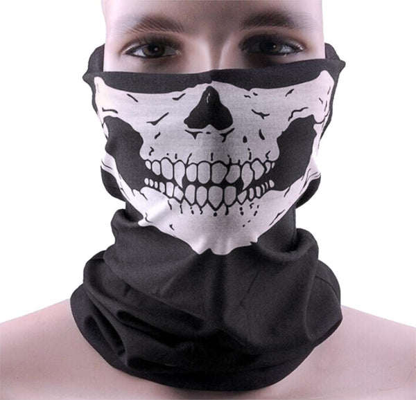 Skull Face Mask Motorcycle - Airsoft Military Tactical